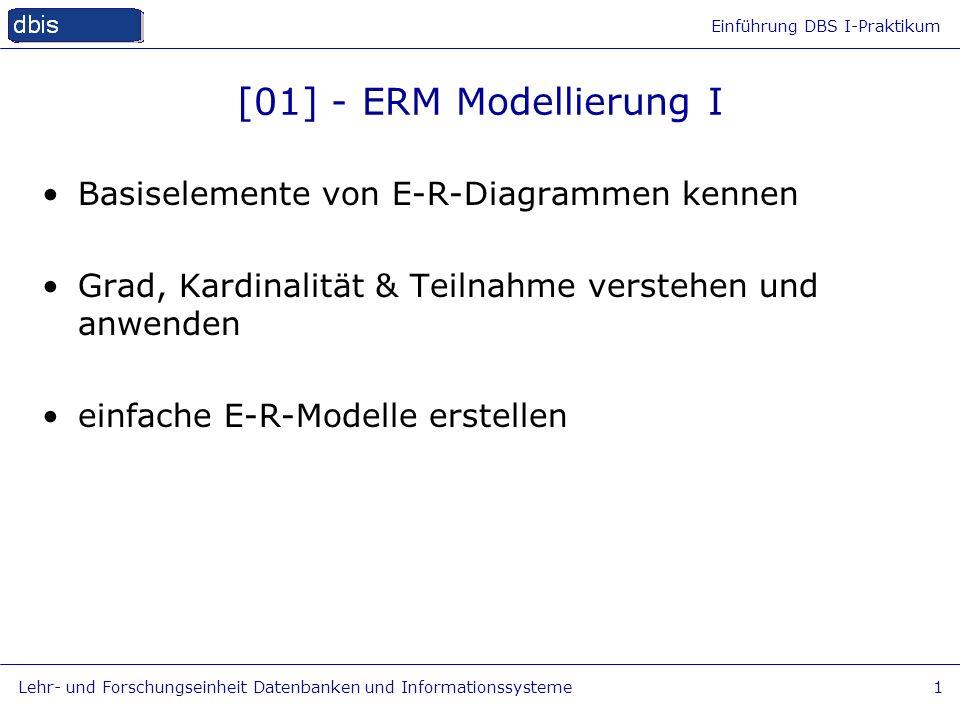 [01] - ERM Modellierung I Basiselemente von E-R-Diagrammen kennen